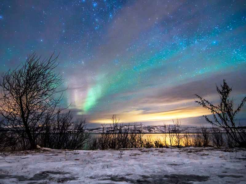 Northern Lights toward the end of the Norwegian winter