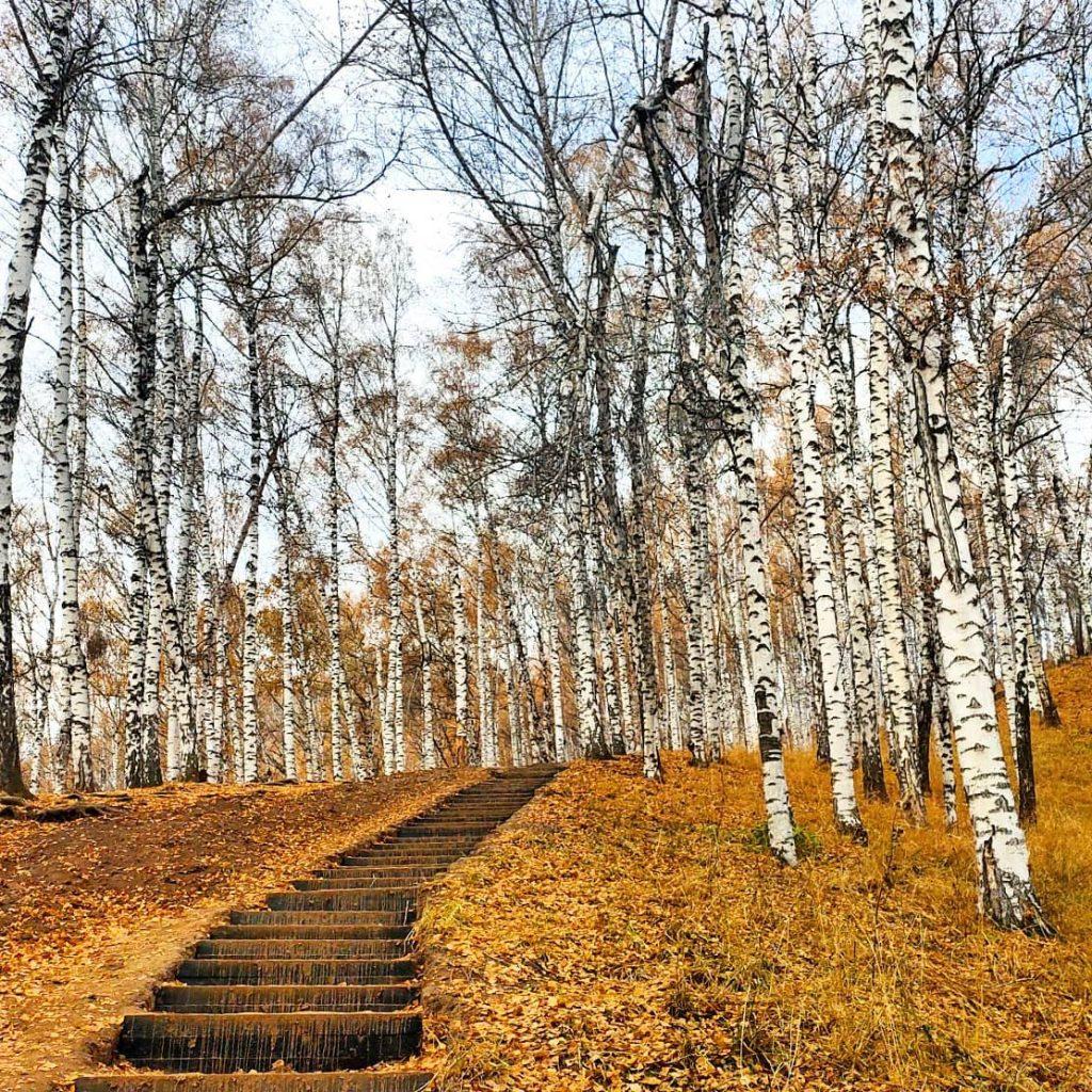 Exploring a local trail in Almaty, Kazakhstan. Photo credit: Igor Strebkov
