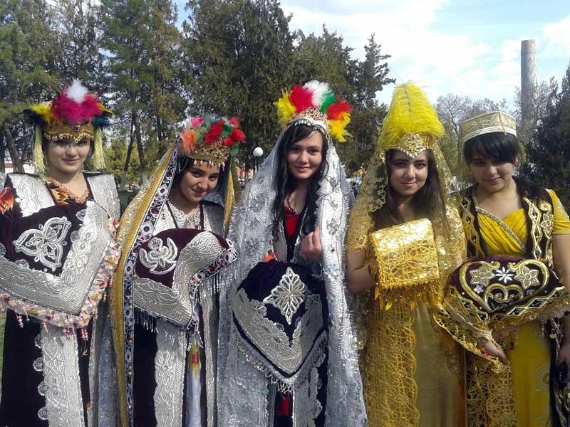 Local women in their Navruz finery. Photo credit: Regina Mnatsakanian