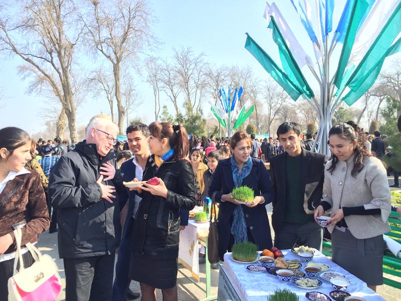 It's hard to go hungry at a Navruz celebration. Photo credit: Abdu Samadov