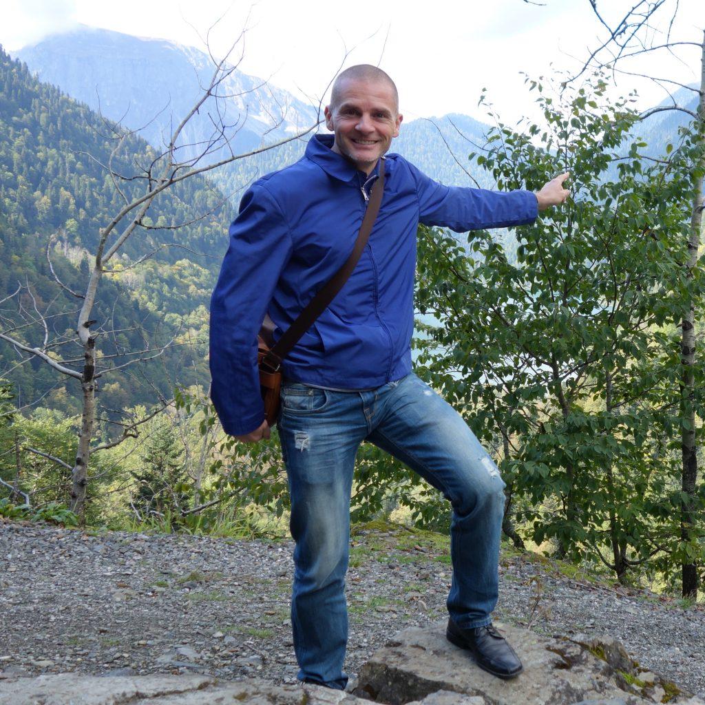 John Seckel enjoys the scenery during a hike. Photo credit: John Seckel