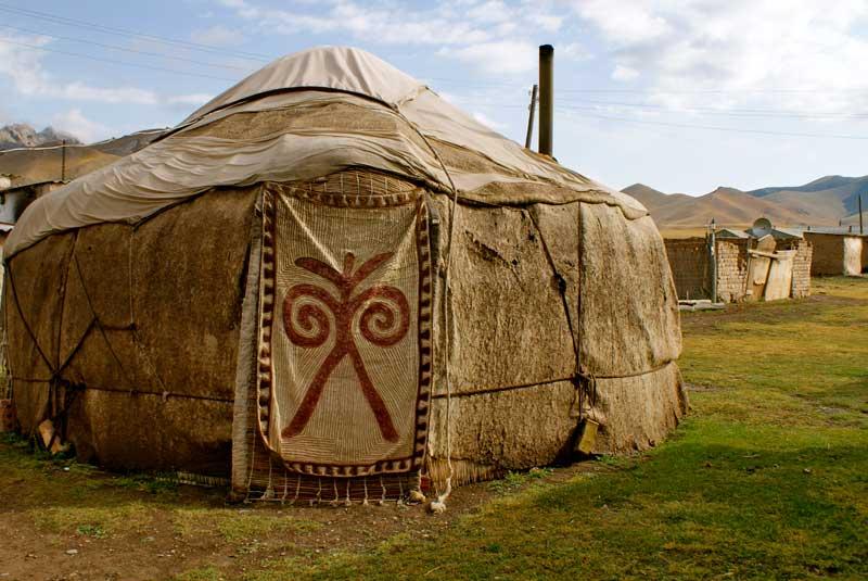 A felt yurt in the mountains of Kyrgyzstan. Photo credit: Caroline Eden
