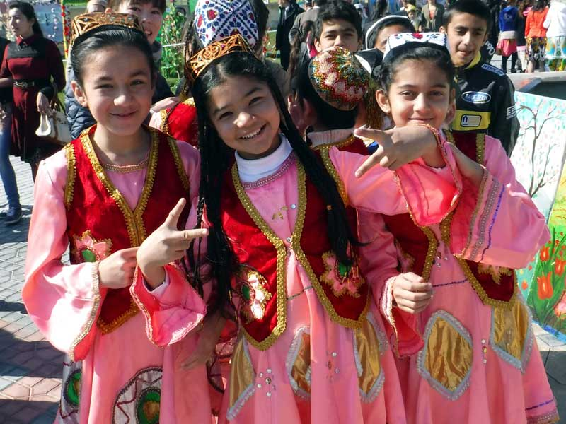 Young girls dressed in their finest outfits for Navruz. Photo credit: Regina Mnatsakanian
