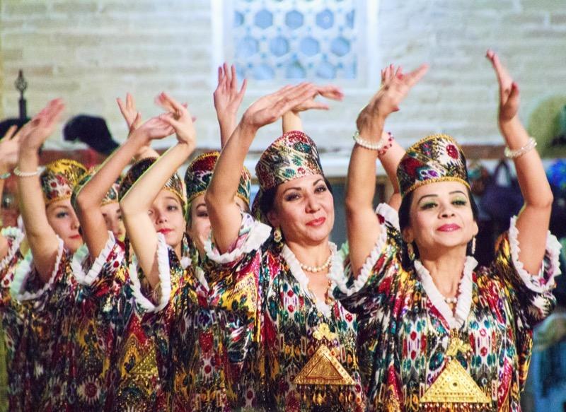 Dancers in Uzbekistan. Photo credit: Lindsay Fincher