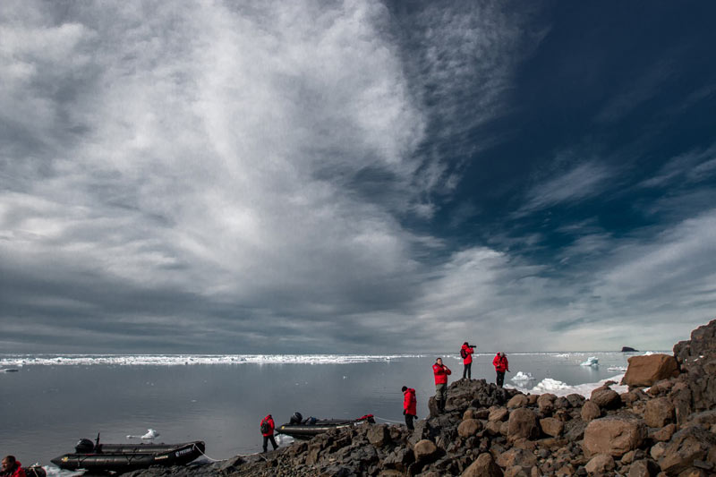 Uncanny sea and sky on the islands of Franz Josef Land. Photo credit: Jonathan Zaccaria
