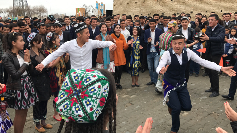 Dancing is a huge part of the Navruz festivities. Photo credit: Abdu Samadov