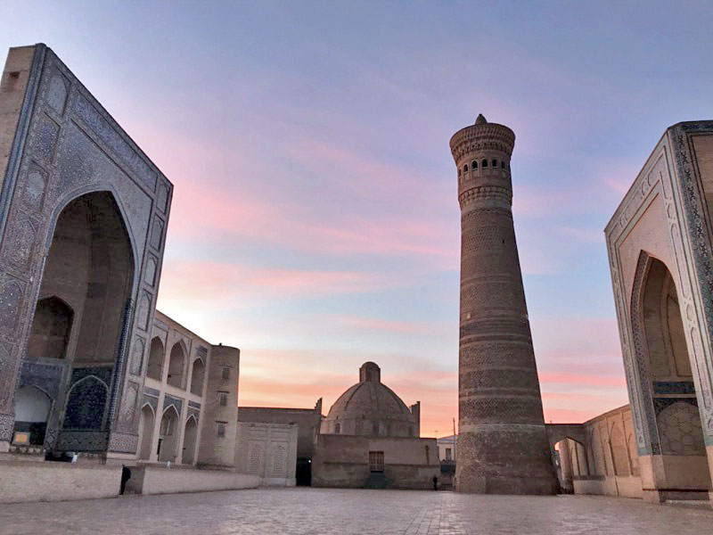 Timelessness: dawn breaks over Bukhara. Photo credit: Abdu Samadov