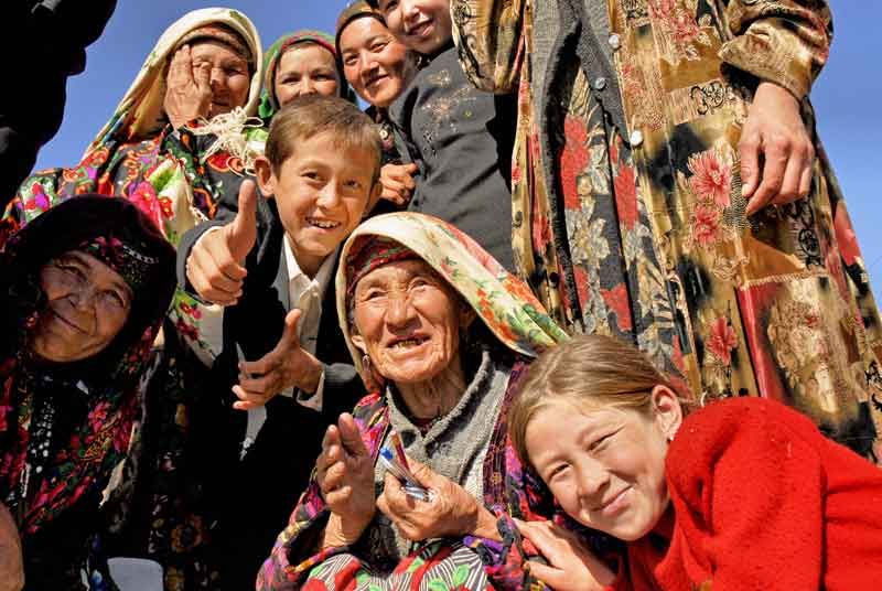 Uzbekistan's Silk Road generations, young and old. Photo credit: Ana Filonov