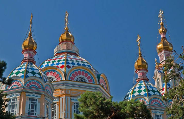 Zenkov Cathedral is an Almaty highlight – one of a handful of wooden cathedrals in the world. Photo credit: Richard Fejfar
