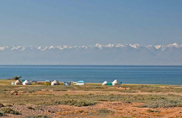 Kyrgyzstan's Lake Issyk-Kul is the second-largest high-altitude lake in world, a saline lake that never freezes. Photo credit: Richard Fejfar