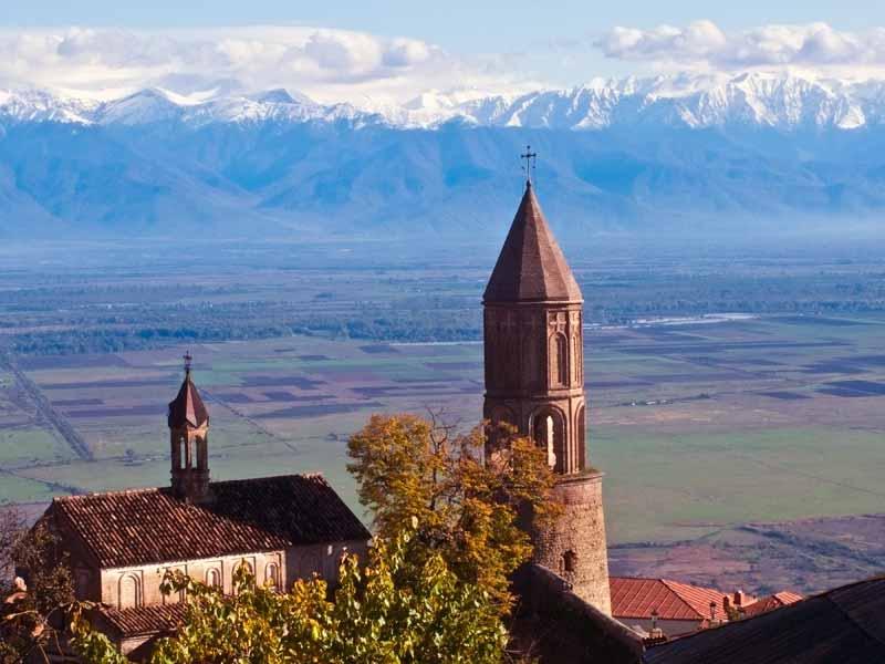 The view from Signagi in eastern Georgia. Photo credit: James Carnehan