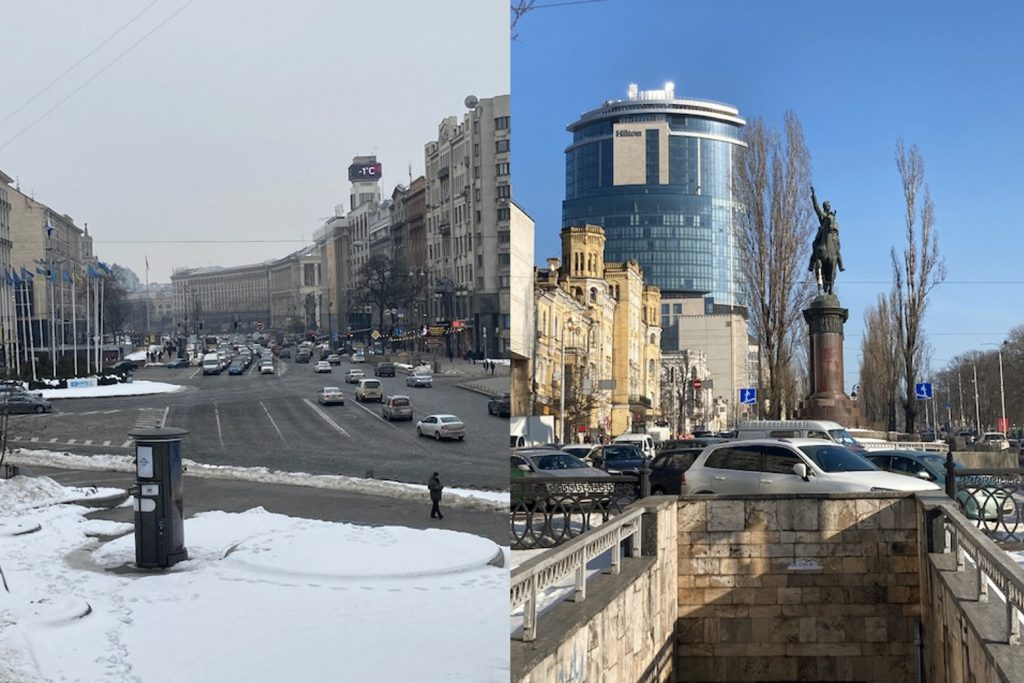 Traveling to Kiev, Ukraine in March. Photo credit: Dmitry Rudich