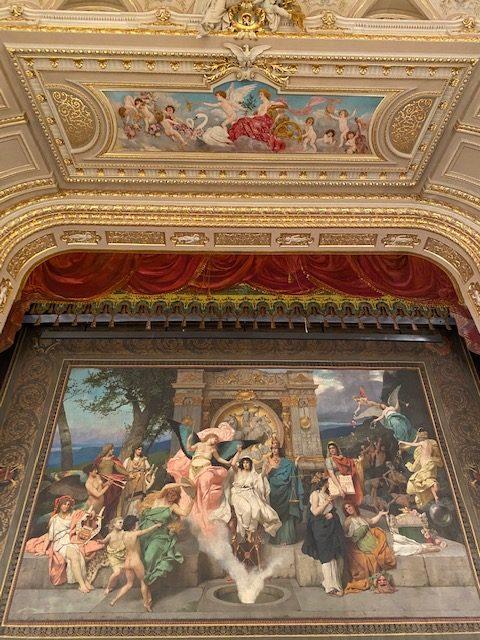 Lviv Opera House Stage Curtain. Photo credit: Luba Rudenko