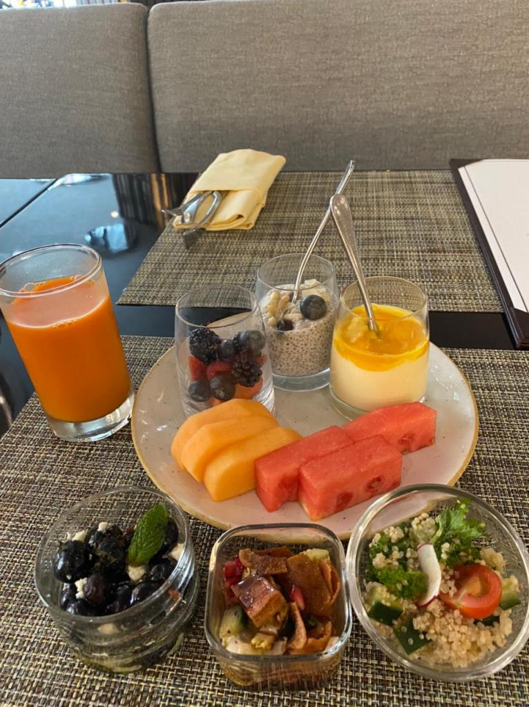 Breakfast at the Jumeirah Emirates Towers Hotel in Dubai. Photo credit: Luba Rudenko