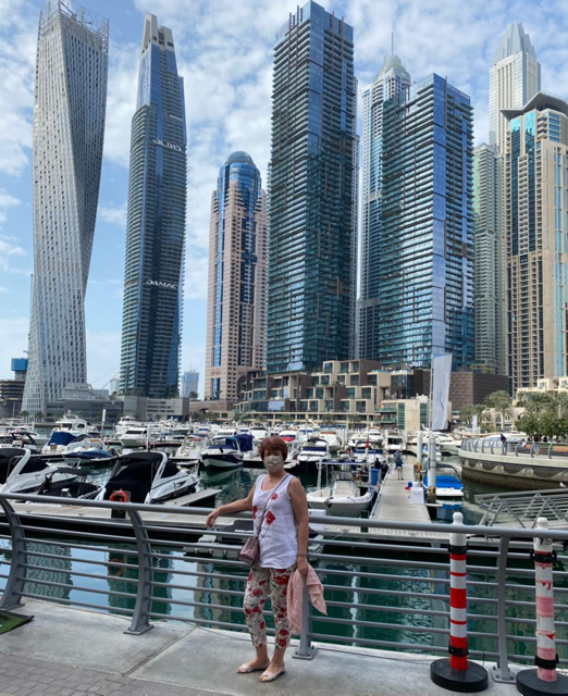 Luba at the Dubai Marina. Photo credit: Luba Rudenko