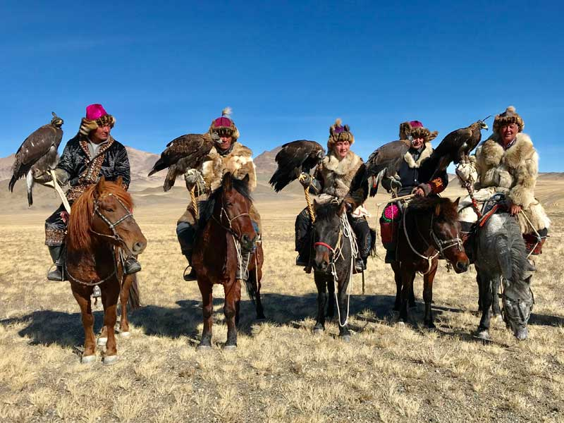 The Golden Eagle festival in Uglii, Mongolia. Photo: Michel Behar