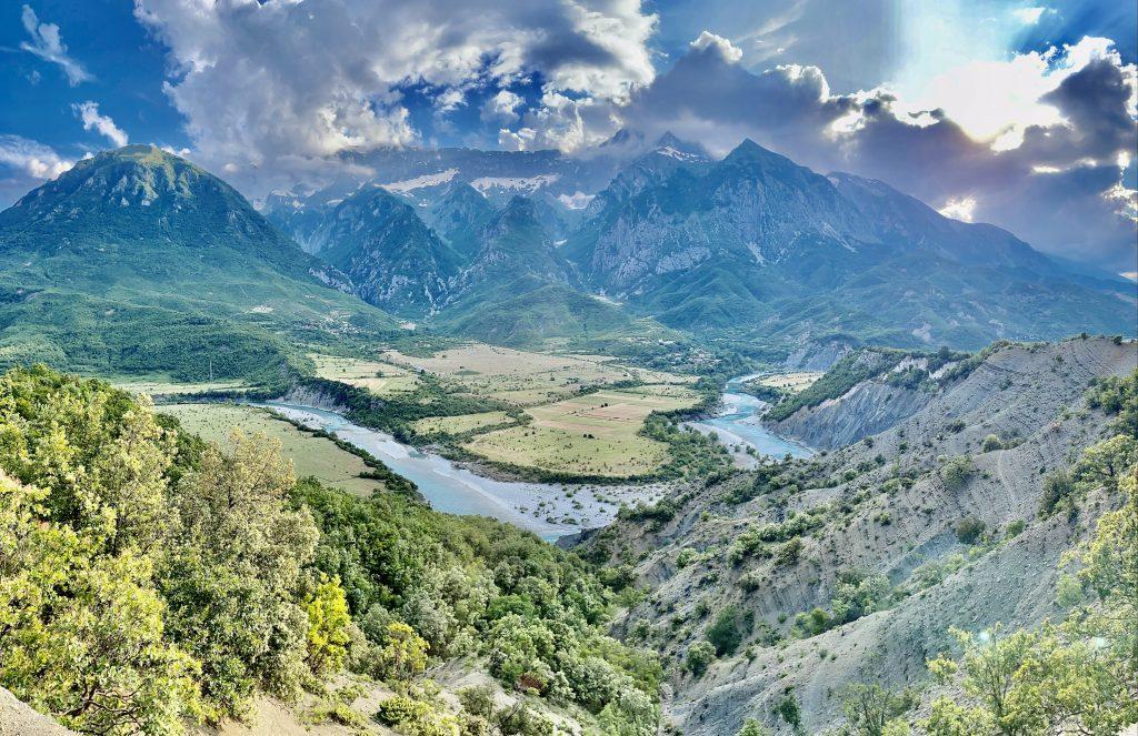Views on the Vjosë river. Photo credit: Michel Behar