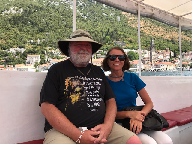 Olga Hayes and her husband Ray on their recent trip to the Balkans. Photo credit: Olga Hayes