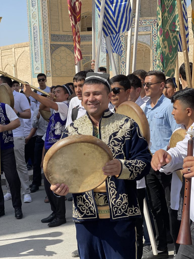 At the festival in Bukhara, Uzbekistan. Photo credit: Abdu Samadov