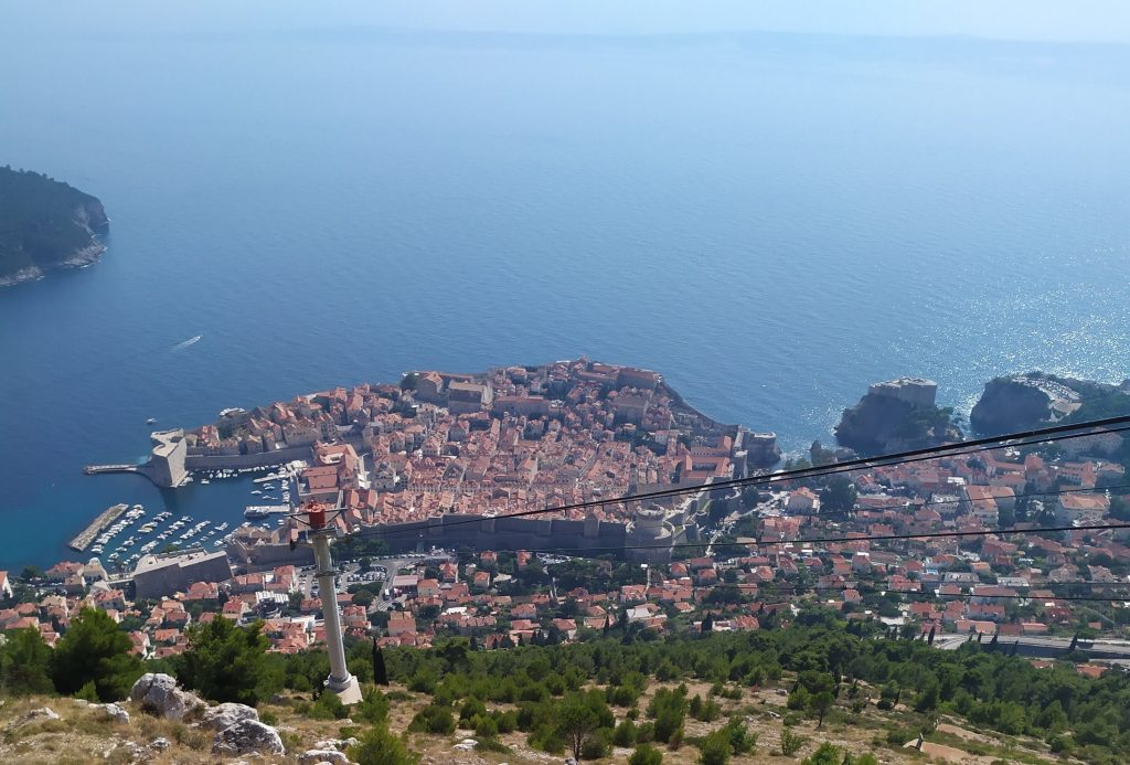 View of Dubrovnik from a hilltop. Photo credit: Martin Klimenta